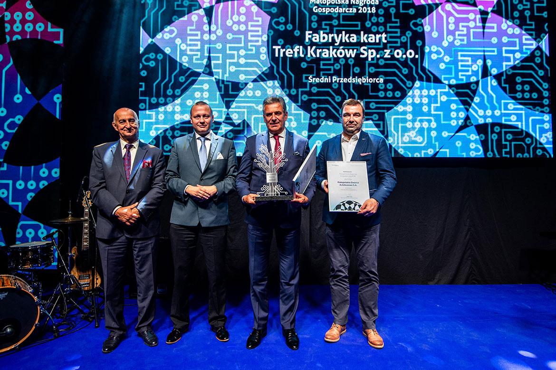 Wręczenie Nagrody dla firmy Fabryka Kart Trefl
