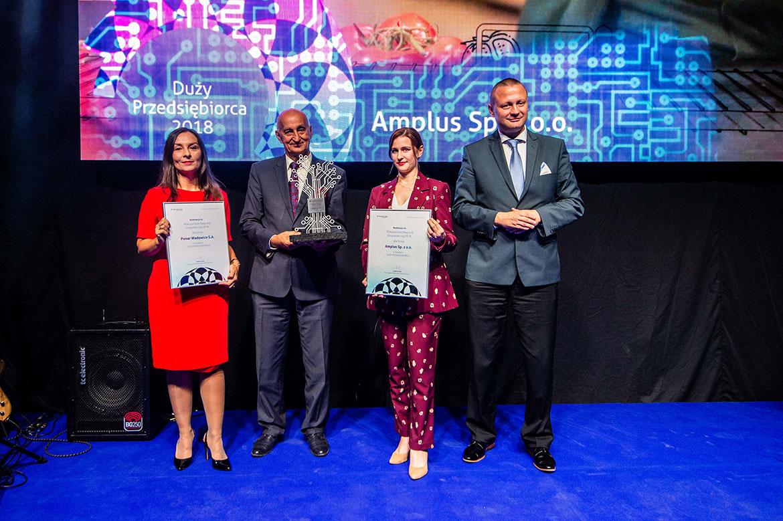 Wręczenie Nagrody dla firmy Amplus