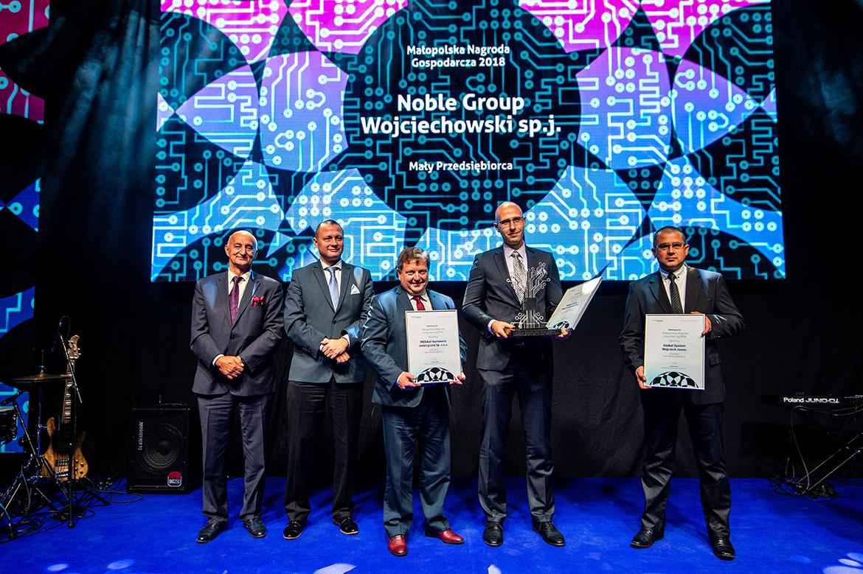 Wręcznie Nagrody dla firmy Noble Group Wojciechowski